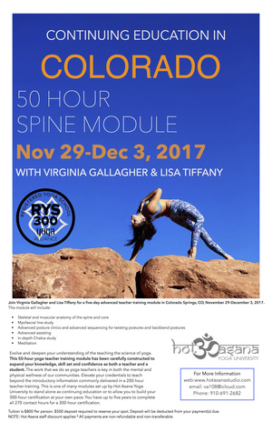 50 hr Spine & Chakra Module in COS, CO